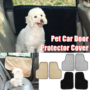 2Pcs/Set Pet Puppy Dog Cat Car Door Protector Cover Cushion Backseat Barrier