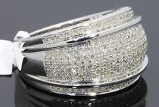 1.23 CARAT MENS WHITE GOLD FINISH GENUINE DIAMOND ENGAGEMENT WEDDING PINKY RING
