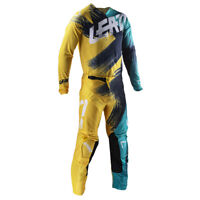 "2019 Leatt GPX 4.5 Motocross MX Kit Combo Gold /Teal 34"" Pant + X-Large Shirt"