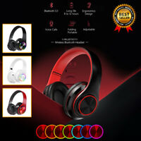 Wireless Gaming Headset for PS4 PS5 Xbox One LED Gaming Headphone Stereo Bass US