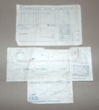 SUNBURY, PA 1956 MONTGOMERY WARD CATALOG PICK-UP NOTICE & INVOICE RECEIPT
