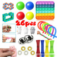 26 Pack Fidget Toys Set Sensory Tools Bundle Stress Relief Hand Kids Adults Toy