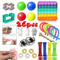 26 Pack Fidget Toys Set Sensory Tools Bundle Stress Relief Hand Kids Adults Toy