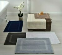 Allure Hotel Essential 100% Cotton Soft Absorbent Durable Bath Mat Rug 50 x 80cm