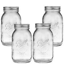 Ball Mason Jar-32 oz. Clear  Ball Regular Mouth Heritage Collection-Set of 4