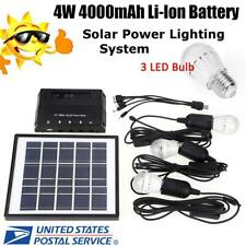 4W Solar Power Panel LED Lights Charger Light System Kit Outdoor Camping Garden
