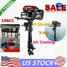 4Stroke 7HP Outboard Motor 196CC Fish Boat Engine Air Cooling System Hand Start