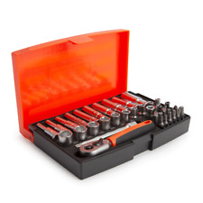 Bahco SL25L Metric Socket and Mechanical Set 1/4in Dynamic Drive (37 Piece)