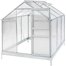 Invernadero de jardín policarbonato con base vivero casero plantas cultivos 5,7m