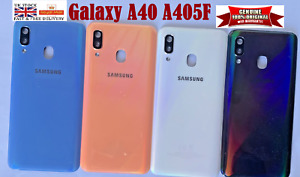 100% Genuine Samsung Galaxy A40 A405F Back Rear Battery Cover Panel camera lens