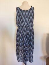 H&M Mädchen luftiges Tunika Kleid blau zu Sandale Ballerina Gr. 8-9 134