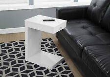 Monarch Specialities Accent Table - White With A Drawer (I-3192)