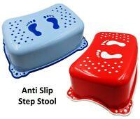Kids Plastic Step Stool Non-Slip Bathroom Stepstool Childs Toilet Potty Training
