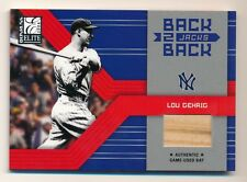 2004 Donruss Elite * LOU GEHRIG * Game Used Bat Relic * #1/100