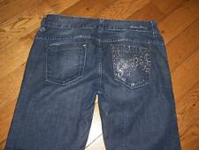 WOMENS GUESS JEANS DAREDEVIL BOOTCUT JEANS W/RHINESTONES WAIST 29 LENGTH 34