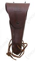 US Army Dark Brown Leather M1916 COLT 1911 PISTOL HOLSTER - WW2 .45 Gun Repro