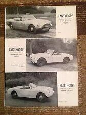 Rara Pubblicità' FAIRTHORPE Zeta/Electron Minor/Electron 1959
