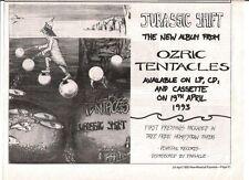 "OZRIC TENTACLES Jurassic Shift 1993 UK Press ADVERT 12x8"""