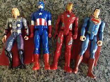 4 Hero Posable Figure MARVEL Avenger THOR Captain America IRON MAN DC SUPERMAN
