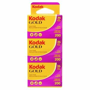 Kodak Gold 200asa Cheap Colour Film 35mm 36exp 3 Pack