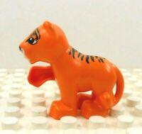 Lego Duplo Figure Tiger Cub Orange w/ black