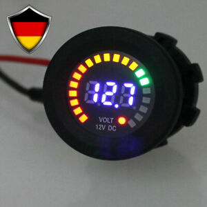 DC 12V Voltmeter LED Display Digital Panel-Meter KFZ Auto Mini Spannungsanzeige