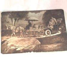 Vintage Automobile Postcards Transportation 1910 Maine Stamps Paper Ephemera