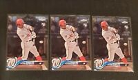 2018 Topps Chrome Update Victor Robles ROOKIE Card Lot of (3) Nationals #hmt22