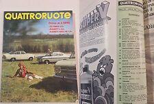 QUATTRORUOTE APRILE 1968 - PROVA OPEL KADETT RALLYE 1,9
