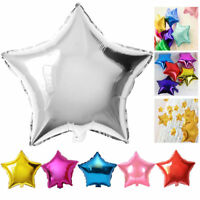 """5/10Pcs 10"""" Five-pointed Star Foil Helium Balloons Wedding Party Birthday Decor"""