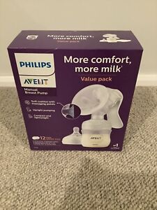 PHILIPS AVENT SCF330/70 NATURAL MANUAL BREAST PUMP INCLUDING 12 BREAST PADS NEW