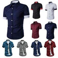 Mens Polo Shirt Short Sleeve Casual Button Down T-Shirt Tops Summer Blouse Tee