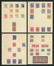 More details for honduras stamps 1898-1915 officials inc tete-beche blk8+ sg#o34a 50c imperf btwn