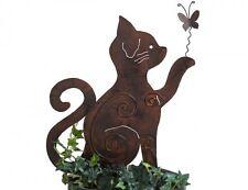 Beetstecker Katze Metall H50cm   Gartenstecker