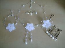 Parure (pas cher) Bijoux Blanc, p robe de Mariée/Mariage, perle collier bracelet