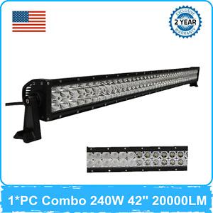 240W 42''inch LED Work Light Bar Combo 12V 24V Chevrolet Ranger Ford 41''/46''