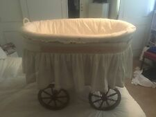 Leipold Gypsy/travellers Style Crib Clw Bow Top Wooden Wheels Fitted