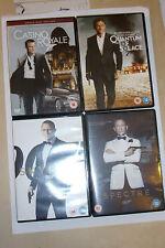 CRAIG 007 JAMES BOND DVD MOVIE COLLECTION CASINO ROYALE QUANTUM SKYFALL SPECTRE