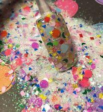 glitter mix acrylic gel nail art        SHAPE UP   Glows In The Dark