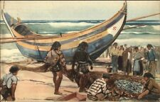 Portugal - Pesca de Sardinha - Unusual Fishing Boat Vessel Postcard