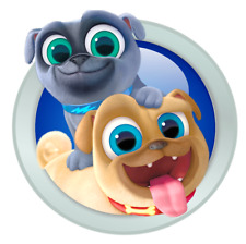 """Puppy Dog Pals Bingo and Rolly Iron On Transfer 5""""x5"""" for LIGHT Colored Fabrics"""