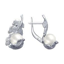 SOKOLOV Sterling Silver 925 Earrings Cultured Pearl Free P&P