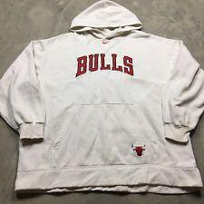 NIKE CHICAGO BULLS 90s VTG Center Swoosh Hoodie Sweatshirt XXL Travis Scott OG