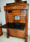 Antique Biedermeier Secretary Desk 1840s Mahogony Fabulous Brasswork Ex Cond.