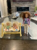 Fisher Price Loving Family Dollhouse Nursery BabyTwins Swing High Chair Mother