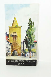 Coquille Stadtkarte Nr.50 Jena Um 1930 Plan de Ville ! (H5