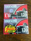 Maxell UR 120 Audio Cassette Tape 2pk Normal Bias Blank New Sealed Music Minutes