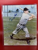 George Kell Detroit Tigers Signed 8x10 Glossy Photo Golden Sports Authenticated
