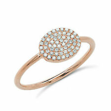1/4 Ct Round Cut Natural Diamond 14k Yellow Gold Cocktail Ring