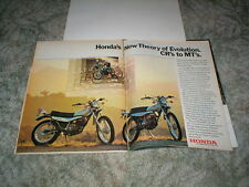 1973 HONDA ELSINORE Cycle Motocross ad CR-125M, CR-250M, MT-125, MT-250 Enduro